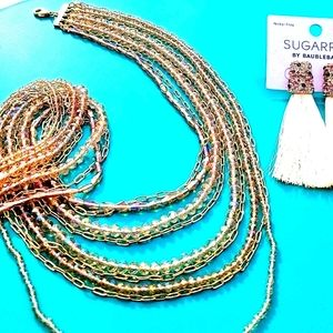 Nwt A New Day Chain, Beaded Multi-Strand Necklace
